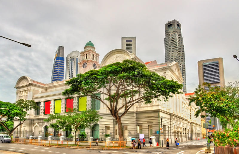 Victoria Theatre and Concert Hall in Singapore royalty free stock photos
