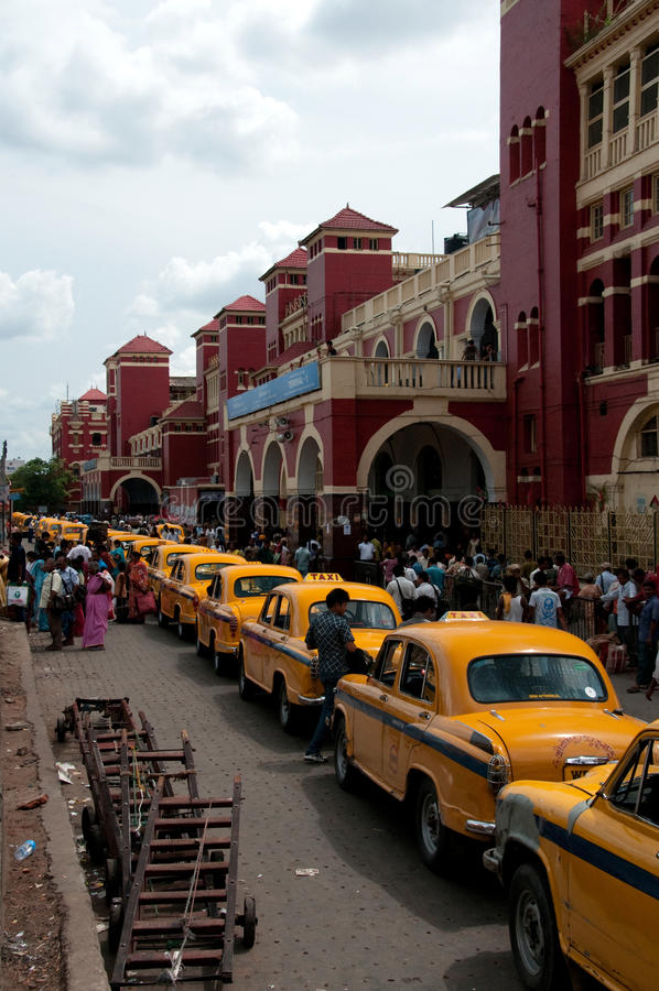 Victoria train station in Calcutta royalty free stock images