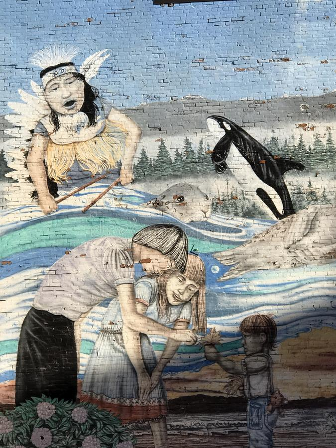 Victoria Wall Mural Art dipinta fotografie stock libere da diritti