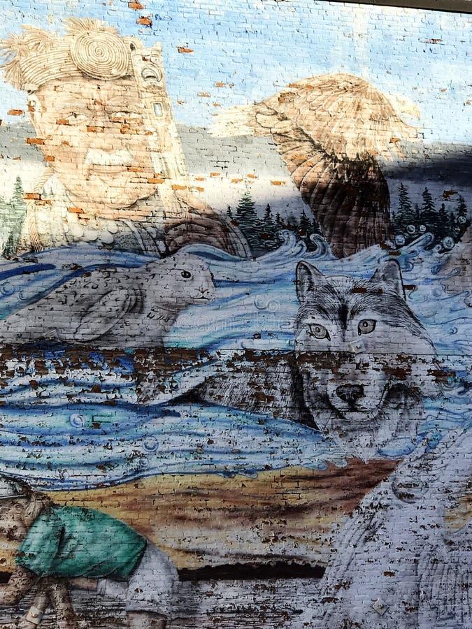 Victoria Wall Mural Art dipinta fotografie stock