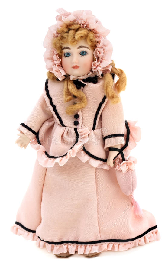 Victoriaans Antiek Doll stock fotografie