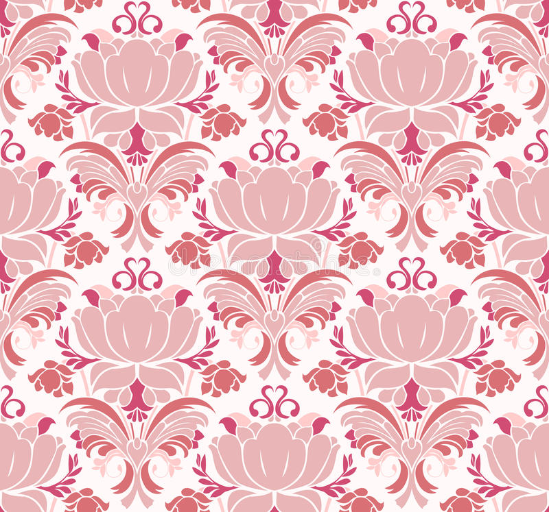 Victoriaans bloemenpatroon royalty-vrije illustratie