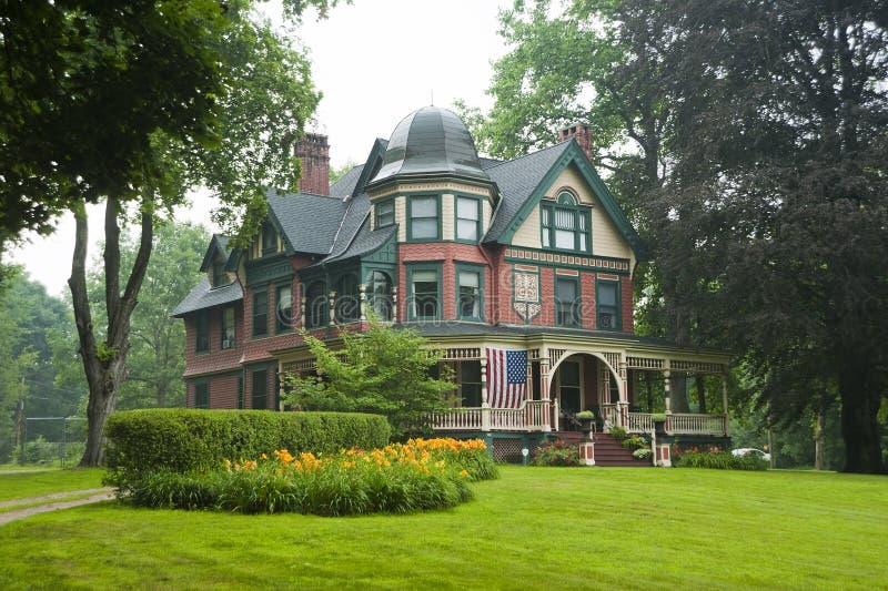 Victoriaans groot huis stock fotografie
