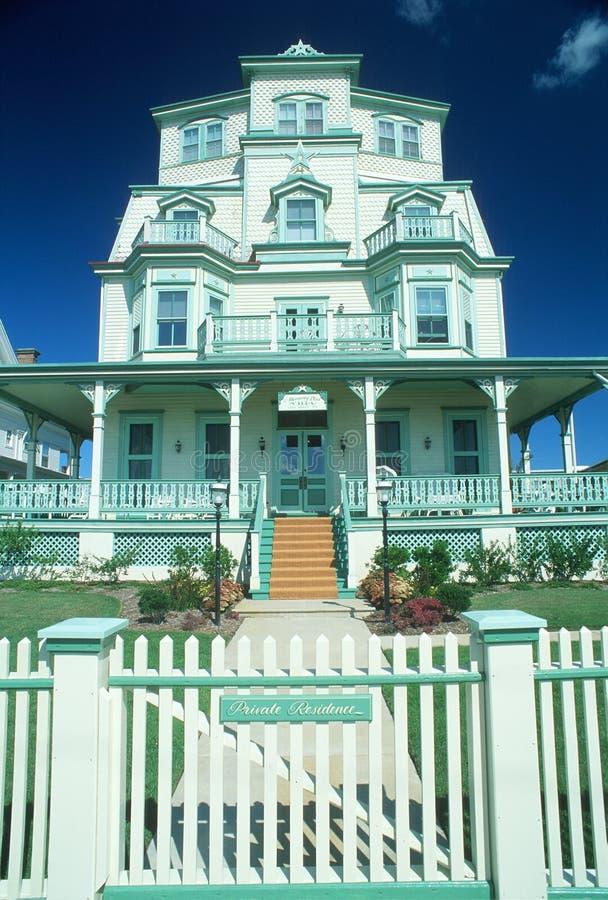 Victoriaans Huis in Kaap Mei, NJ royalty-vrije stock afbeelding