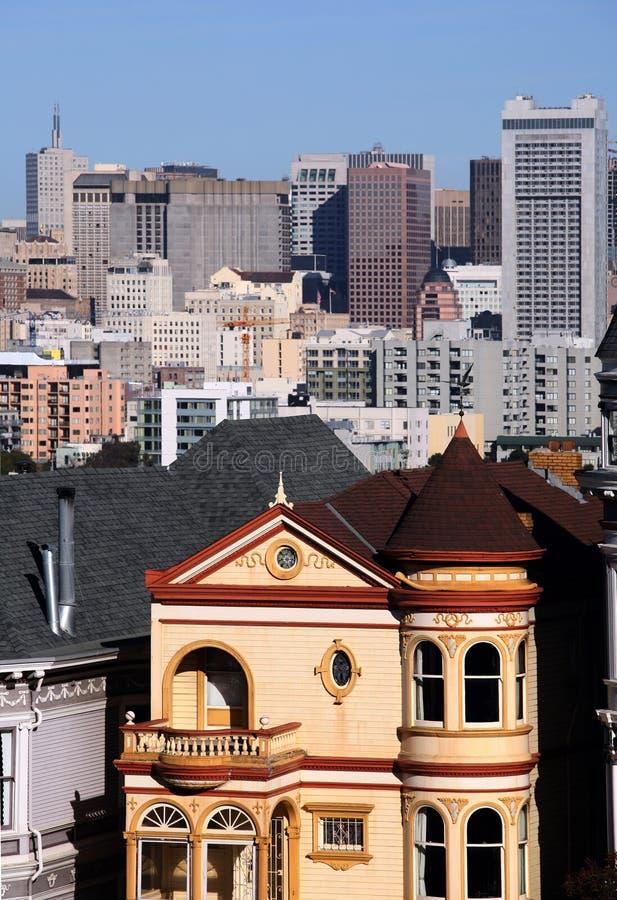 Victoriaans huis in San Francisco royalty-vrije stock fotografie
