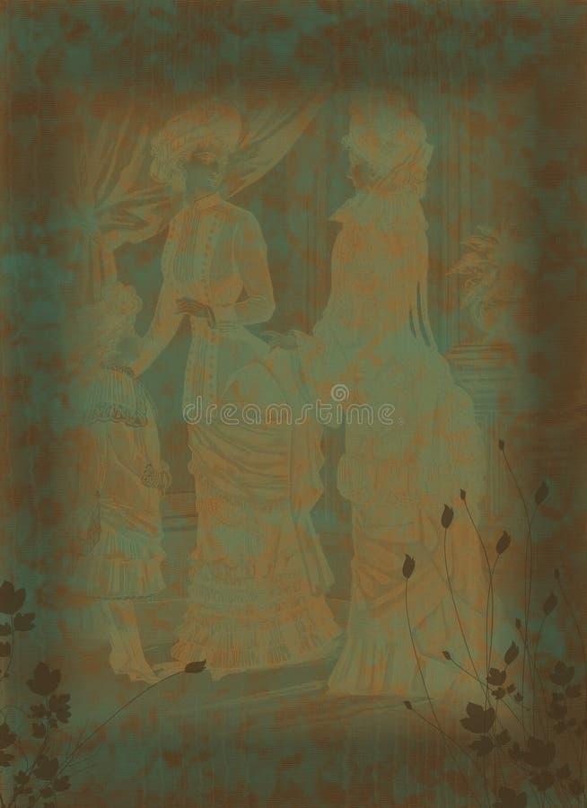 Victoriaanse achtergrond stock illustratie