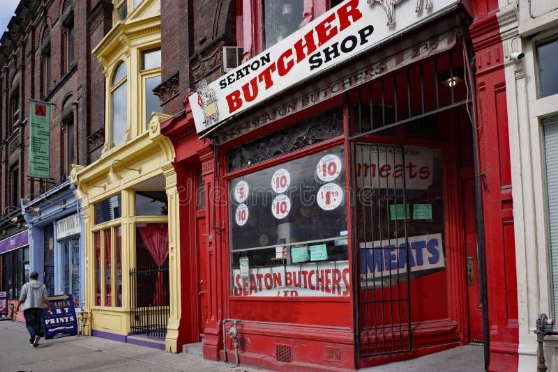 Victoriaanse commerciële gebouwen in Toronto stock foto