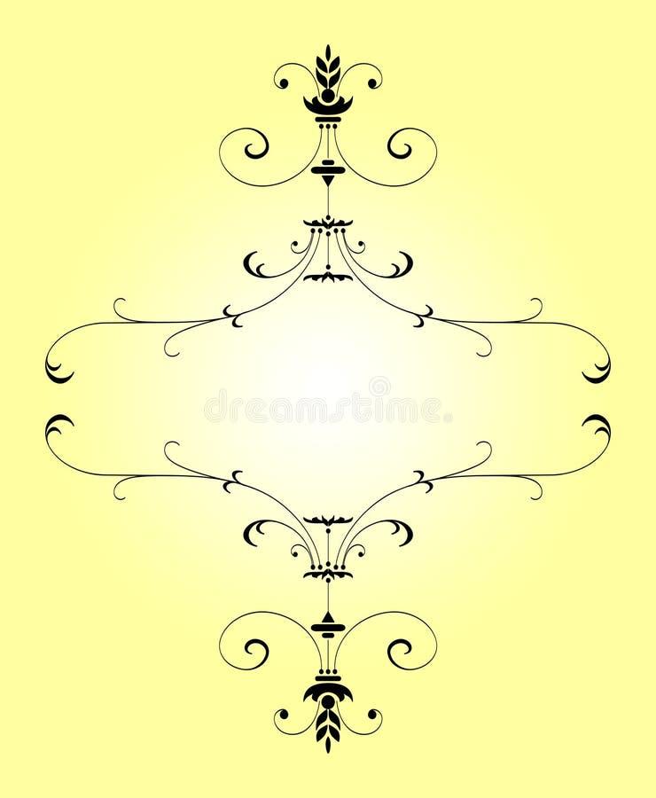 Victoriaanse het lijn-werk grens royalty-vrije illustratie