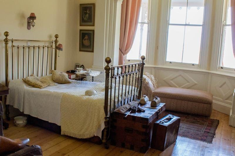 Victoriaanse hoofdslaapkamer royalty-vrije stock afbeeldingen