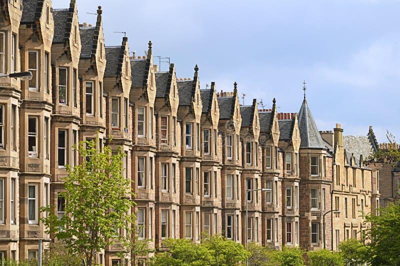 Victoriaanse huisvesting, Edinburgh stock foto's