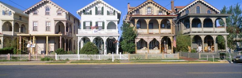 Victoriaanse huizen stock foto's