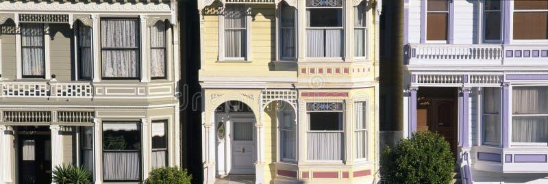 Victoriaanse huizen op Steiner-Straat, San Francisco, Californië royalty-vrije stock fotografie