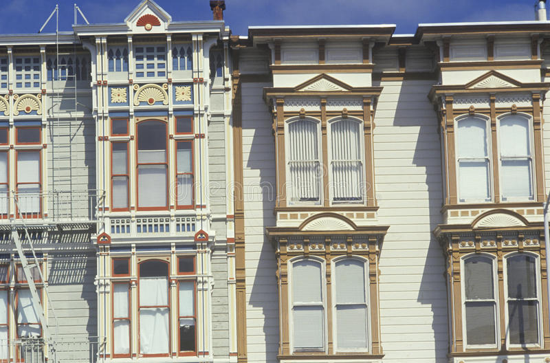 Victoriaanse huizen in San Francisco royalty-vrije stock foto