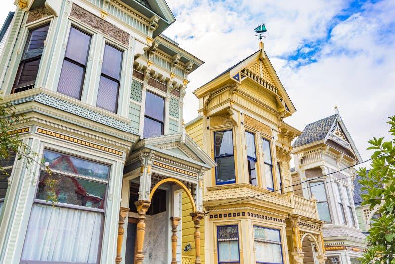 Victoriaanse Huizen in San Francisco stock foto's