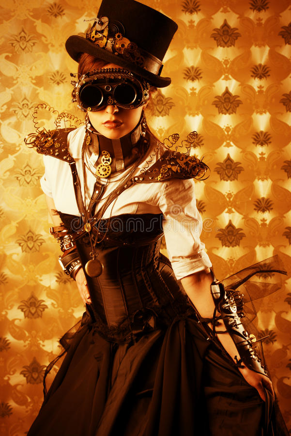 Victoriaanse kleding stock foto