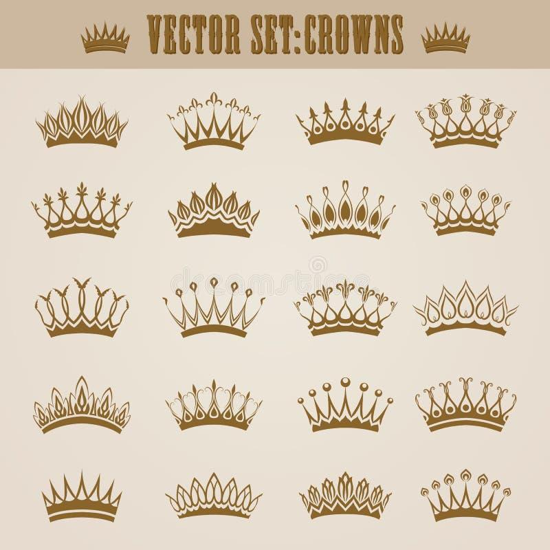 Victoriaanse kronen royalty-vrije illustratie