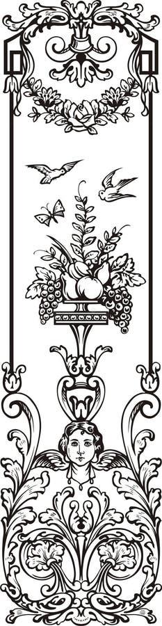 Victoriaanse ornamentbrief royalty-vrije stock afbeeldingen