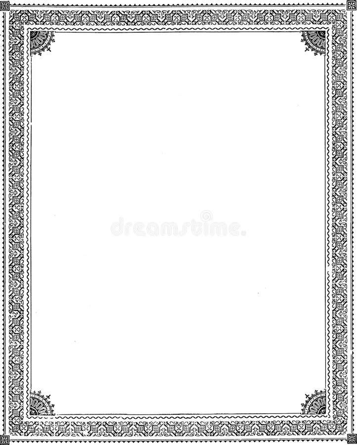 Victoriaanse stijlkaders royalty-vrije stock foto