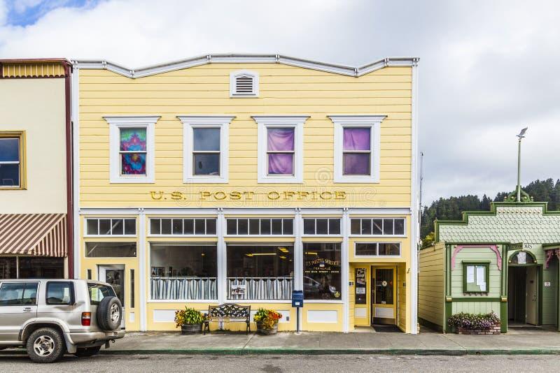 Victoriaanse storefronts in Ferndale, de V.S. stock afbeelding