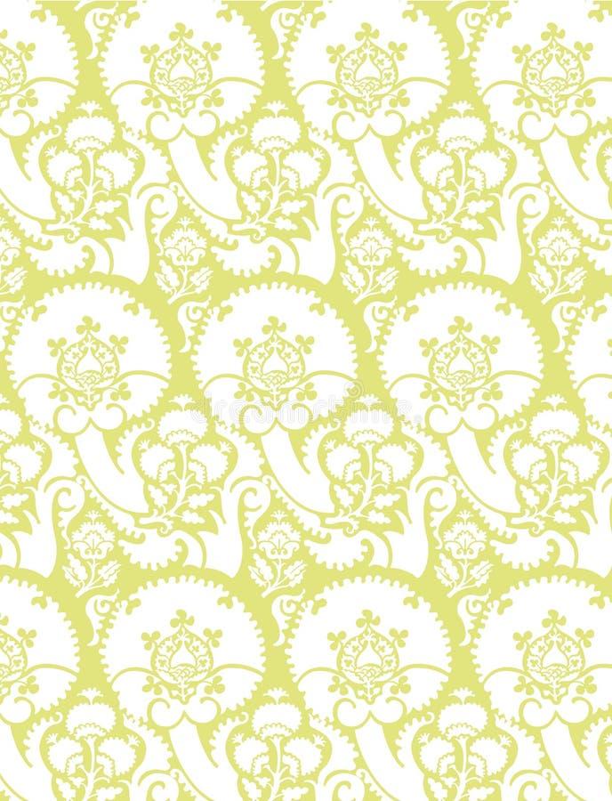 Victoriaanse Vector 7 van het Behang royalty-vrije illustratie