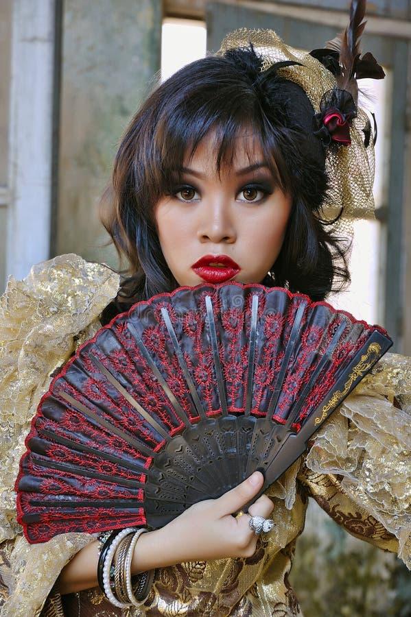 Victoriaanse Vrouw stock foto