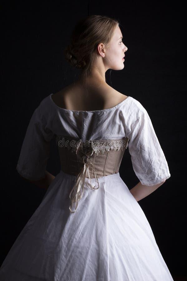 Victoriaanse vrouw in ondergoed royalty-vrije stock afbeeldingen