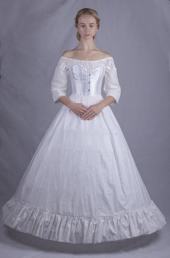 Victoriaanse vrouw in ondergoed stock fotografie