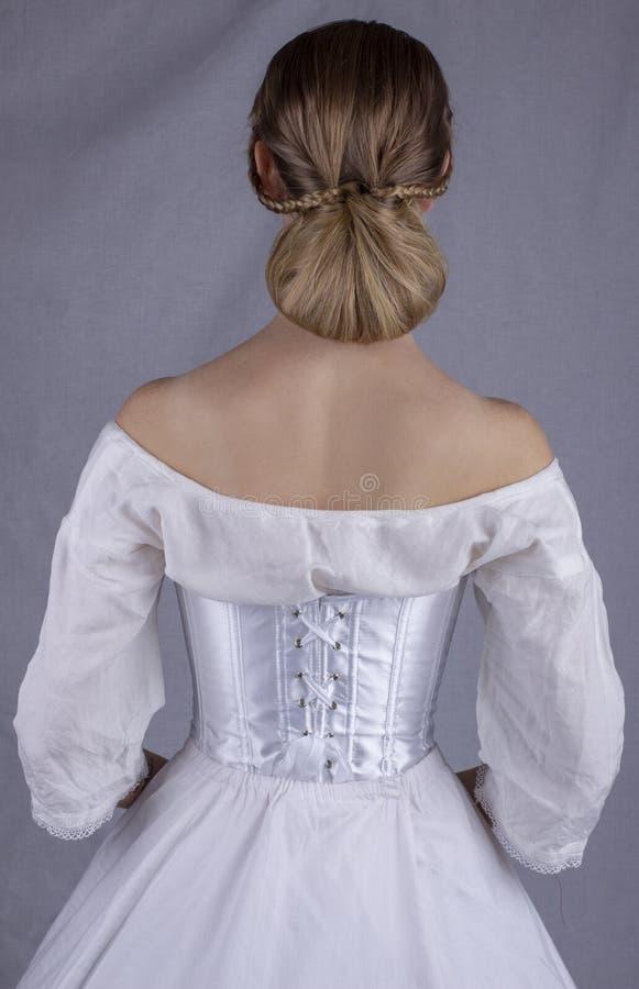 Victoriaanse vrouw in ondergoed royalty-vrije stock foto's