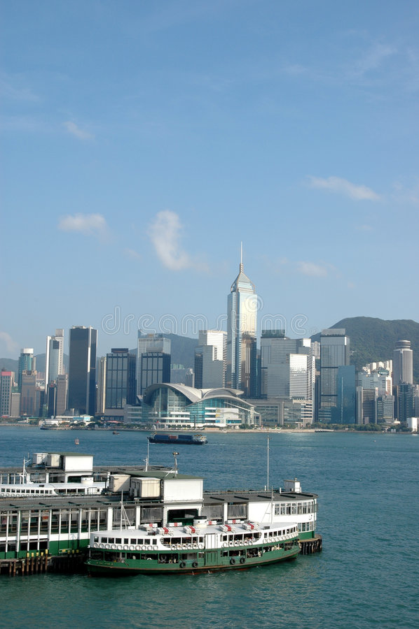 Victorial habor in Hong Kong stockfotos