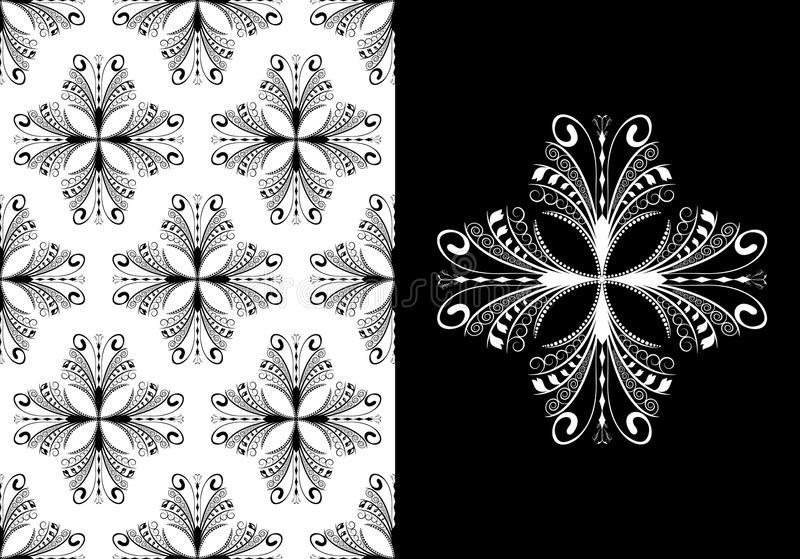 Victorian antique seamless wallpaper royalty free stock images