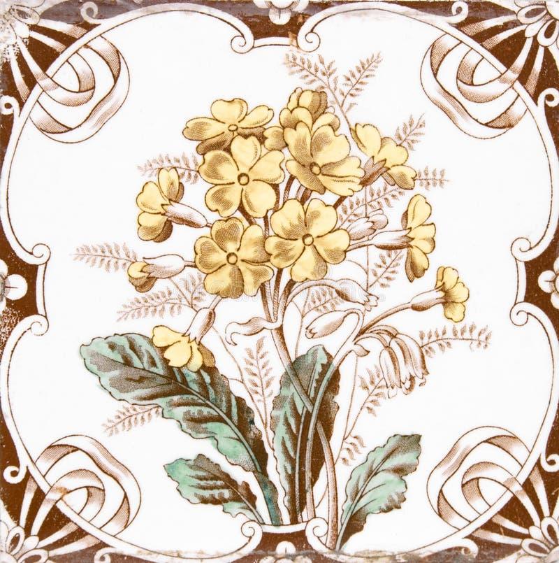 Victorian antique tile royalty free stock photos