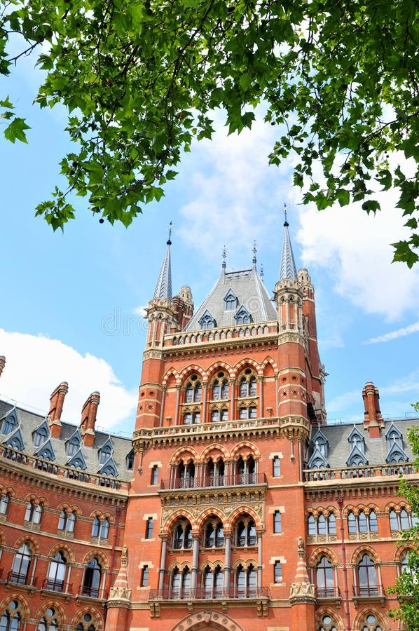 Victorian architecture. Architectural detail of Victorian building in London, UK stock image