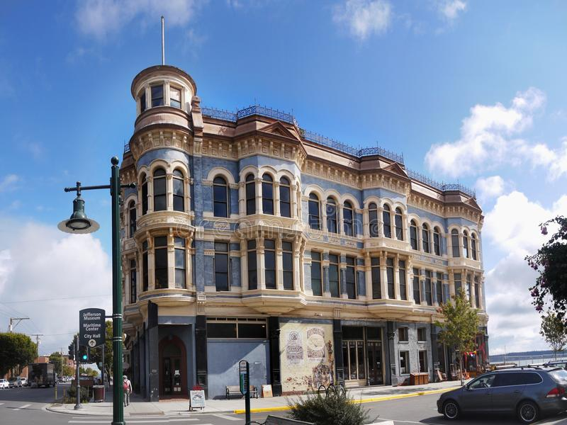 Victorian Architecture Style Building. With doors and windows. Port Townsend, Washington. USA royalty free stock images