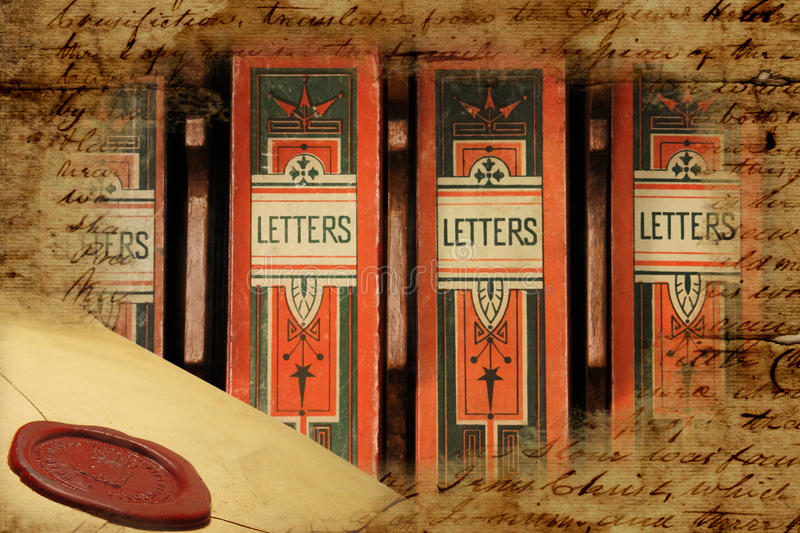 Victorian archival letter boxes royalty free stock image