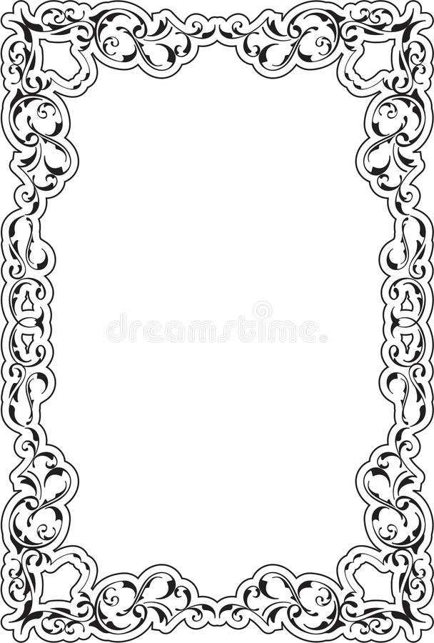 Victorian Art Ornate Scroll Frame Stock Vector - Illustration of ...
