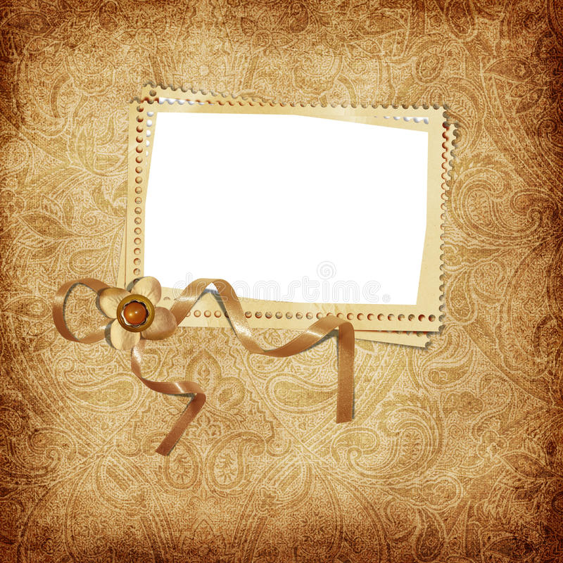 Victorian background with stamp-frames stock illustration
