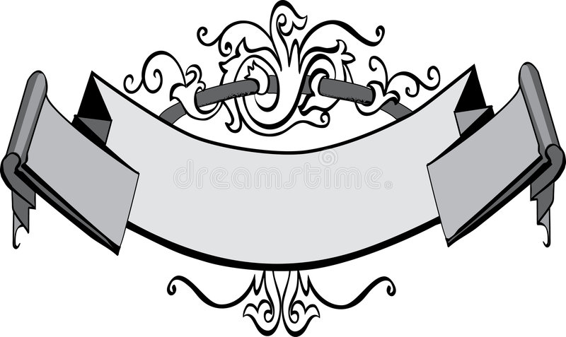 Download Victorian banner stock vector. Image of scroll, effect - 7647770