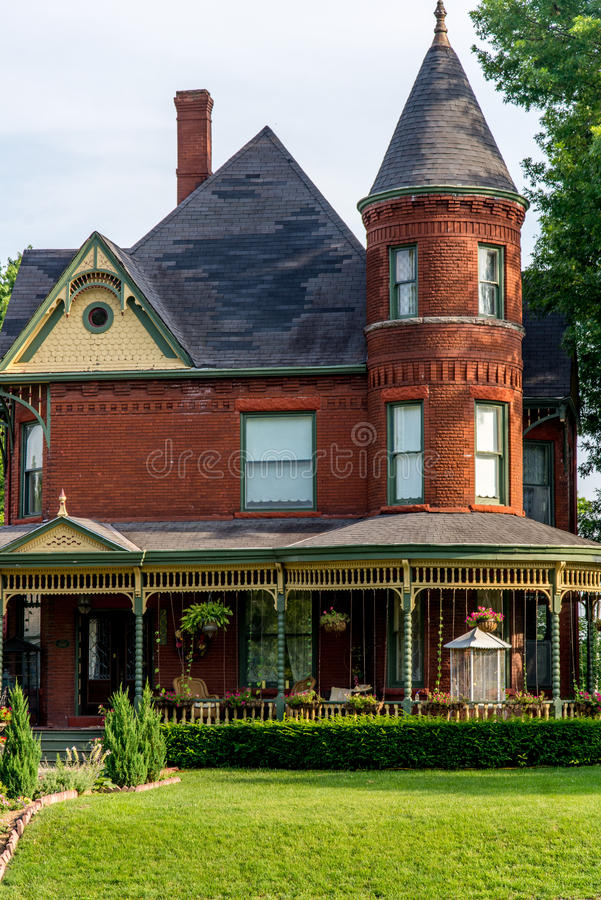 Victorian Brick Bed and Breakfast Home royalty free stock photo