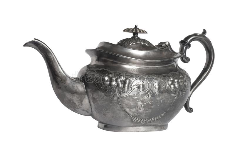 A Victorian Britannia Metal Teapot royalty free stock photos