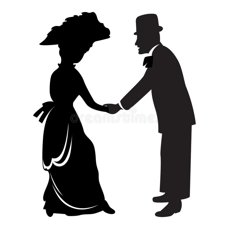 Download Victorian couple stock vector. Image of culture, silhouette - 12365889