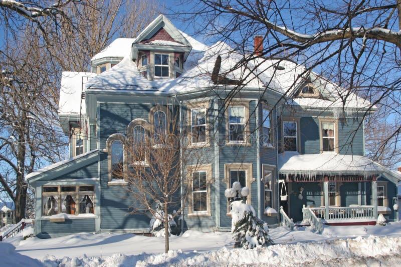 Victorian de l'hiver photo libre de droits