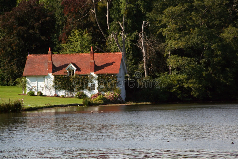 Victorian English Boathouse royalty free stock image