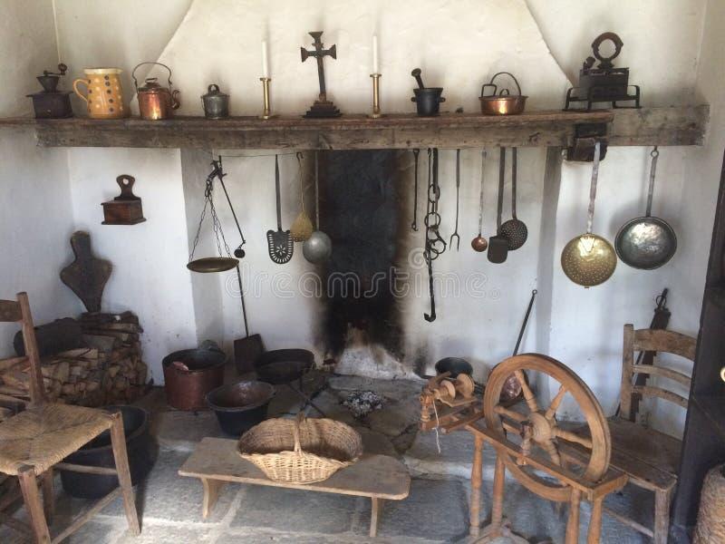 Victorian era swiss kitchen stock photo image