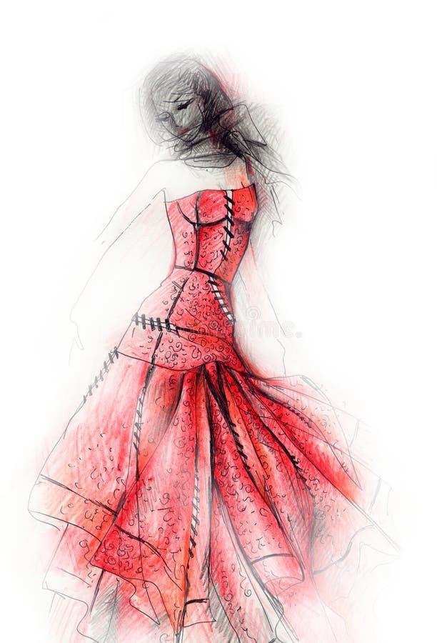 victorian för modeillustrationpunk royaltyfri illustrationer
