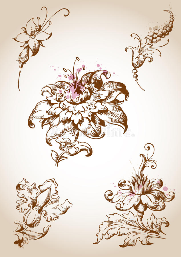 Download Victorian Floral Design Elements Royalty Free Stock Photo - Image:  30410435