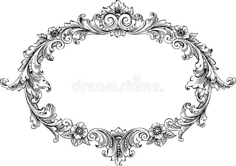 Victorian Frame royalty free illustration