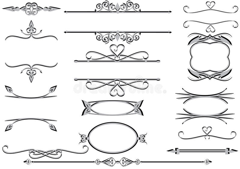 Victorian frames or rulelines vector eps stock illustration