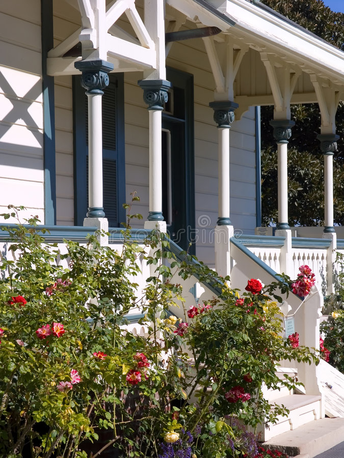 Download Victorian Front Porch stock image. Image of flora, home - 1577375