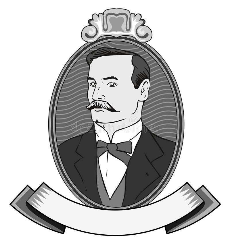 Victorian gentleman royalty free illustration