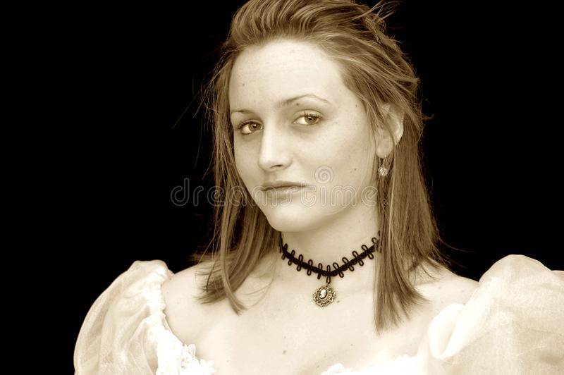 Victorian girl portrait stock photo